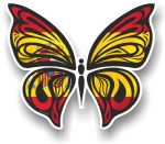 Ornate Butterfly Wings Design With Spain Spanish Flag Motif Vinyl Car Sticker 100x85mm